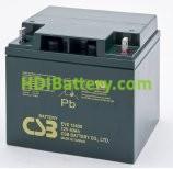Batería para carro de golf 12v 40ah AGM EVX-12400 CSB